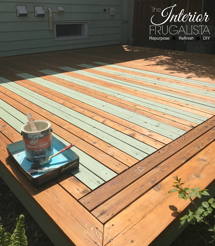 Budget Friendly Deck Makeover Reveal - Painted Rug