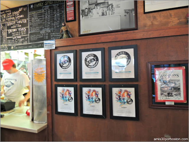Lobster Shacks en Massachusetts: Premios del Woodman's of Essex