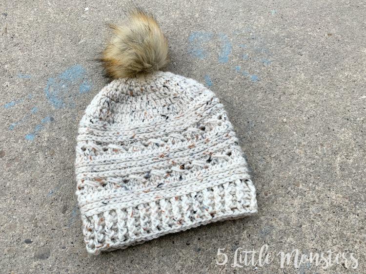 5 Little Monsters: Crossover Crochet Hat Pattern