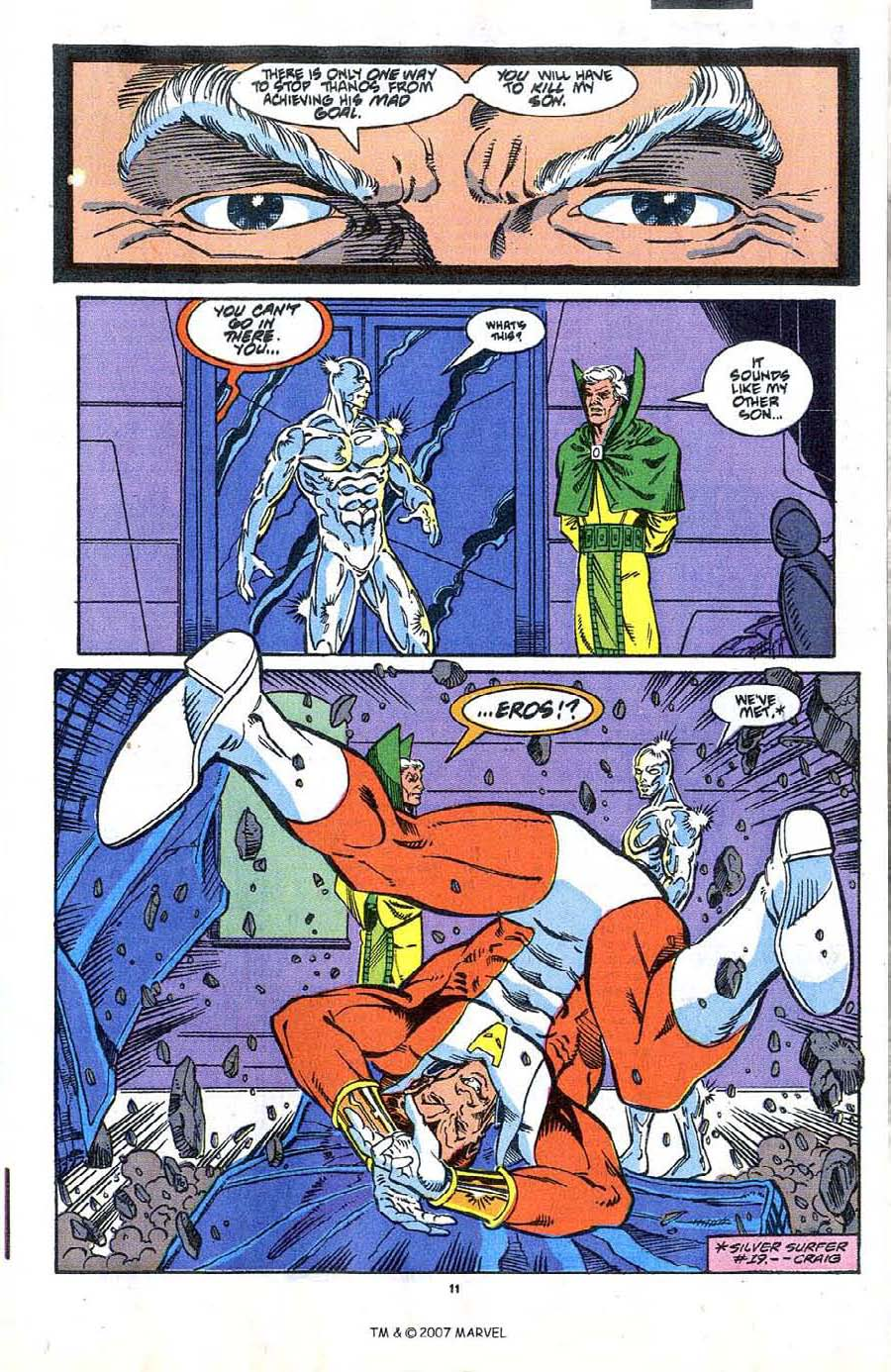 Read online Silver Surfer (1987) comic -  Issue #37 - 13