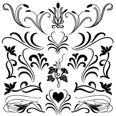Formas de flores para Photoshop