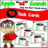 40 Task Cards for the sound of _ed