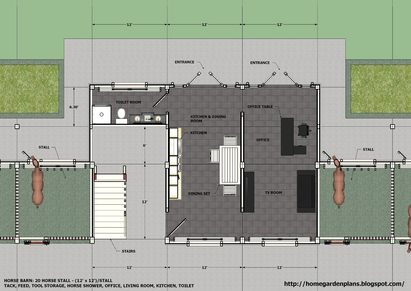 barn plans stable designs building plans for horse - HD1600×1133