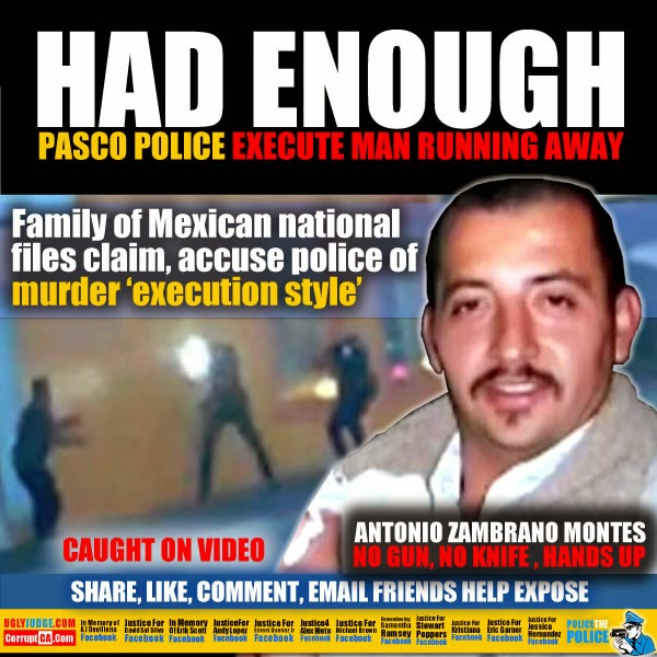 OFFICER DOWN: Migrant Worker Murdered By Cops In Pasco, WA