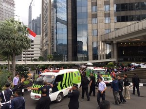 Indonesian stock exchange floor collapses