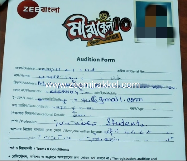 Mirakkel10 audition form
