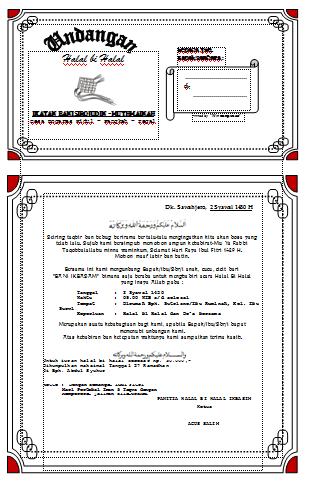 Contoh Surat Undangan Halal Bi Halal Karang Taruna Surat 32