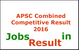 APSC Combined Competitive Result 2016