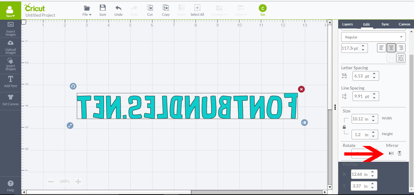 how to change text weight in cricut design space