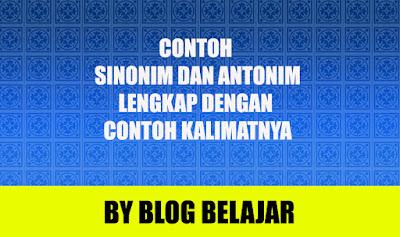30 Contoh Sinonim dan Antonim Beserta Kalimatnya