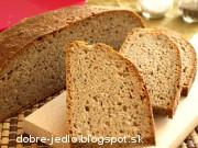 Ražný grahamový kváskový chlieb - recept