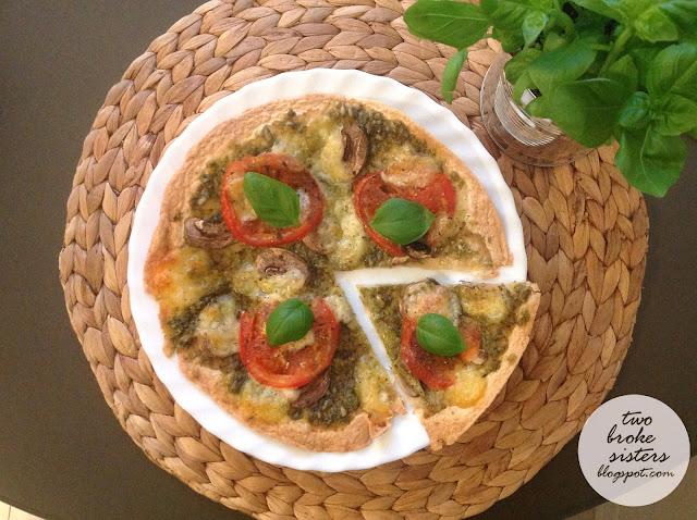 dietetyczna pizza na spodzie z tortilli