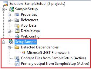 Visual Studio Create Setup project to deploy web application