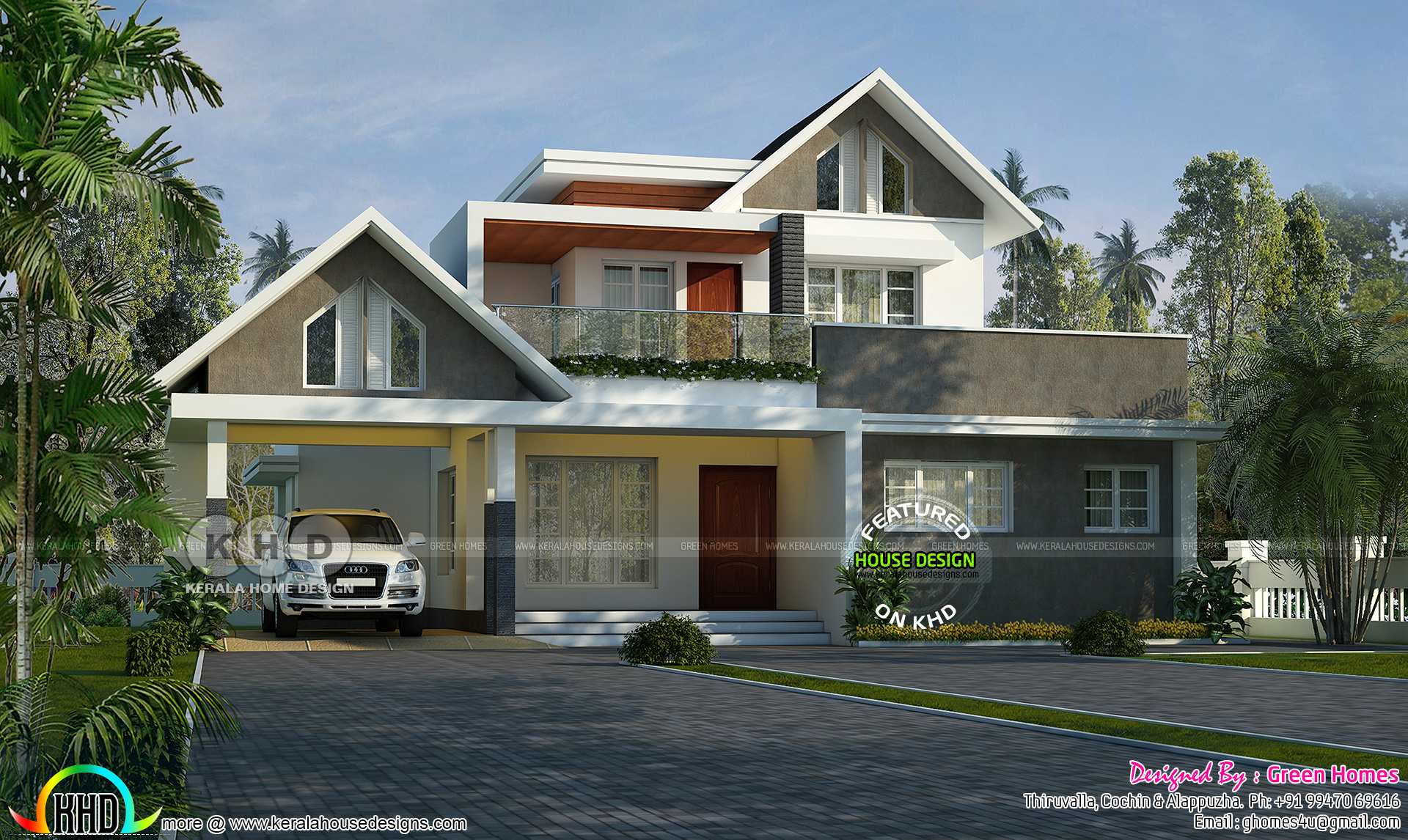 2000 square feet mixed roof 3 bedroom home kerala home for 2000 sq ft homes