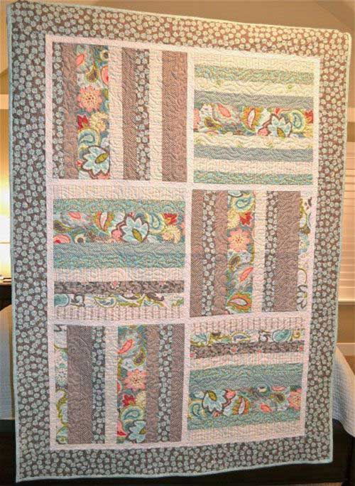 A Quilt for Claire Quilt Featuring Verona fabric line, Designed By Emily Taylor Design