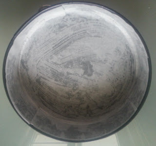 greased and lined cake pan