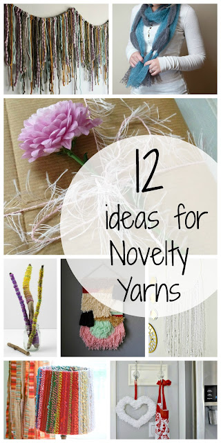 12 alternative ideas for using novelty yarns