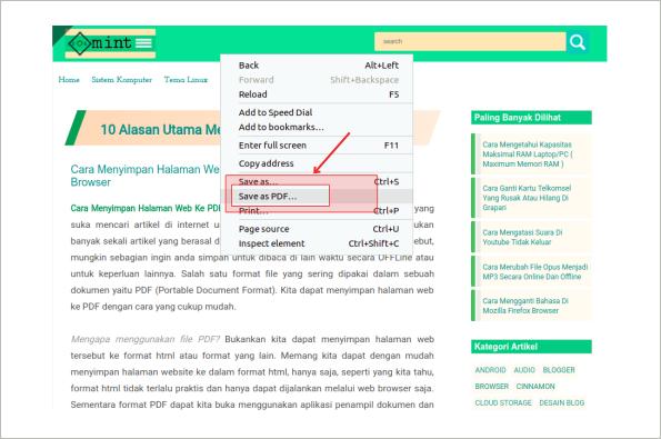 Halaman Web Ke Pdf