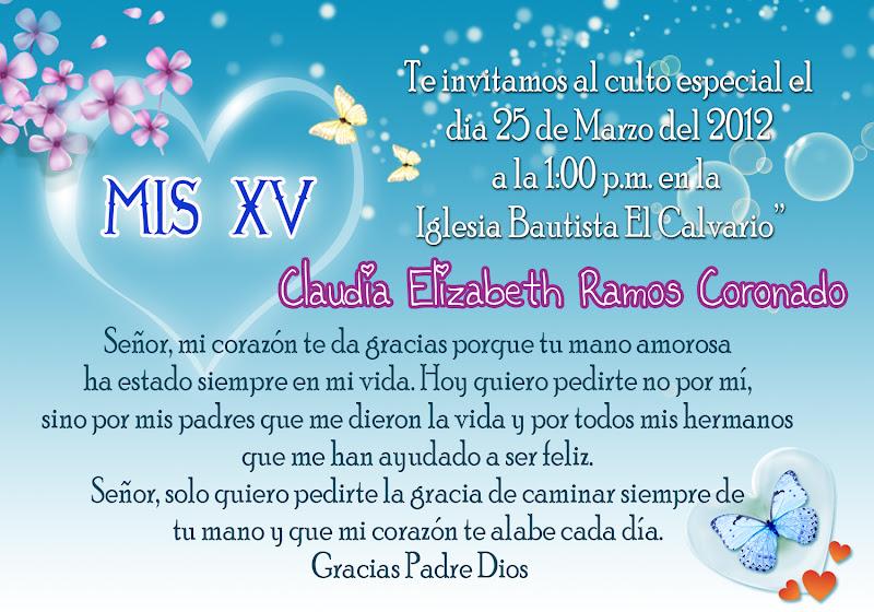 Oraciones Cortas Para Invitación De Xv Años Imagui