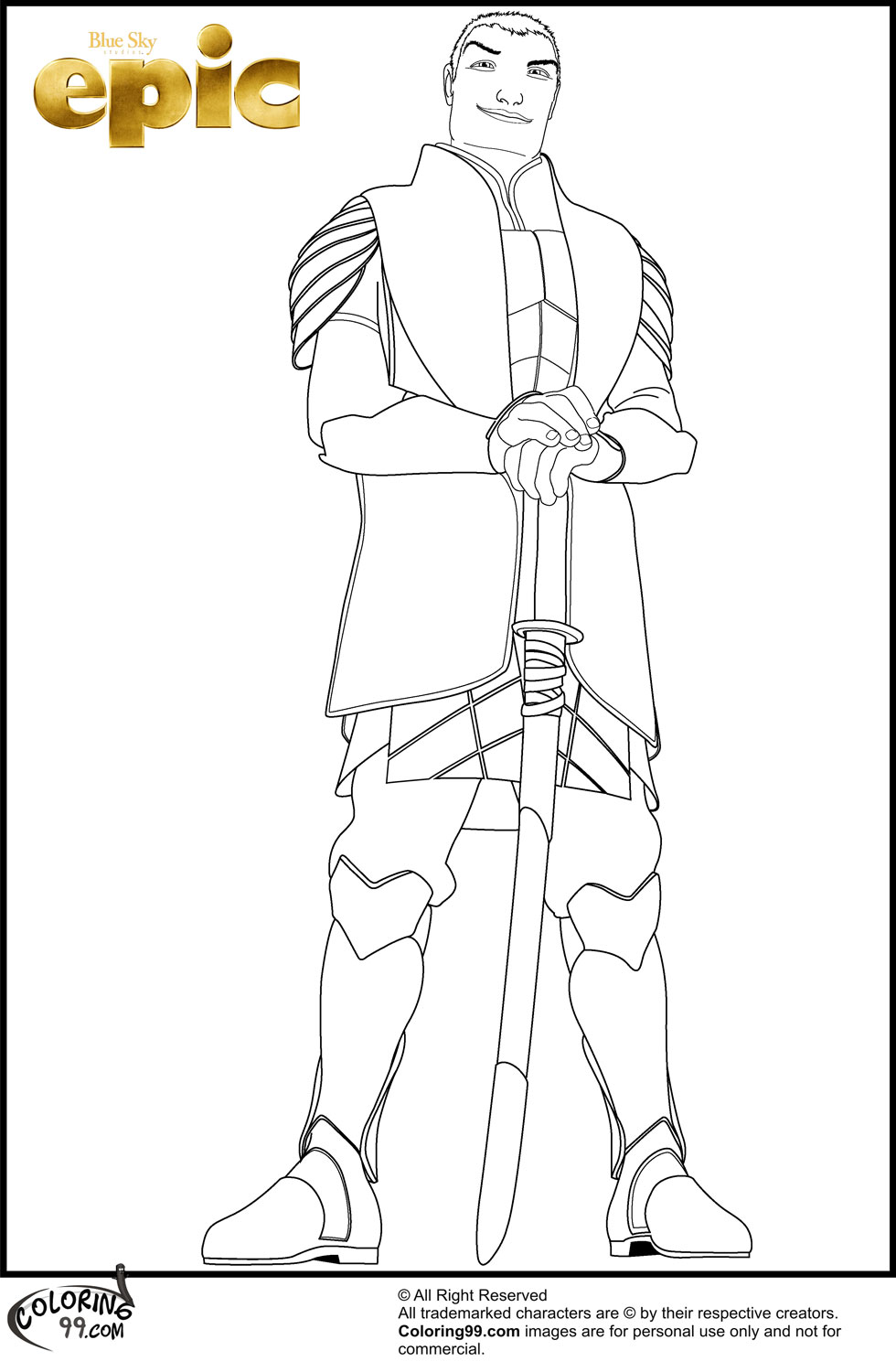 Epic Movie Coloring Pages | Team colors