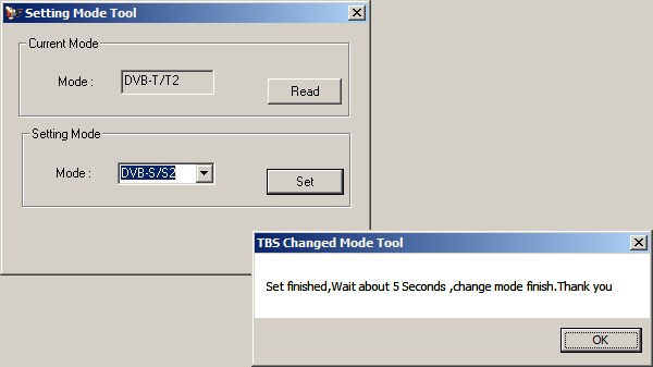 Download TBS5520se Change Mode Tool