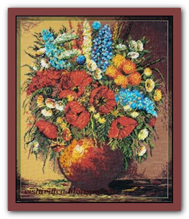 "Download embroidery scheme Rogoblen 7.09 ""Symphony of Flowers"""