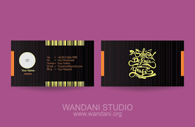 Free Vector : Business Card Black and Orange