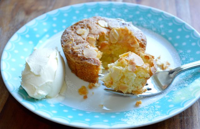 Little Apple and Almond Cakes with Creme Fraiche