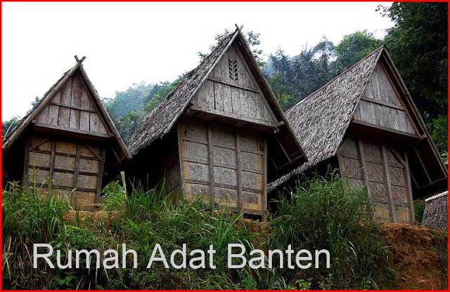Gambar Rumah Adat Banten tampak dari belakang