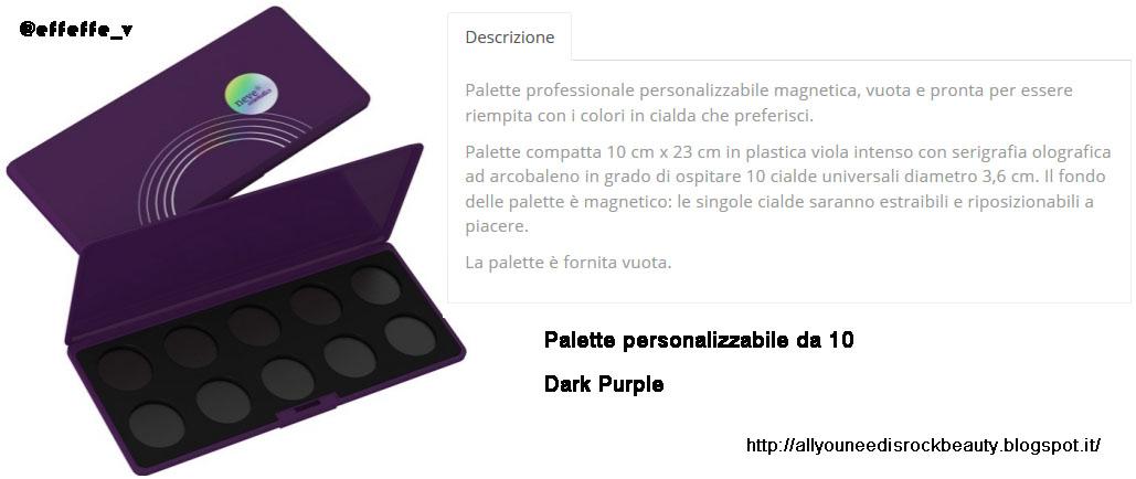 951108d910 -una palette personalizzabile dove possiamo inserire ben 10 cialde di  ombretti/blush/terre compatti (purtroppo non disponibile in altri  colori..l'avrei ...
