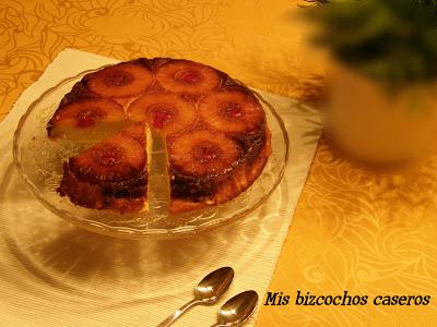Tarta de queso y piña