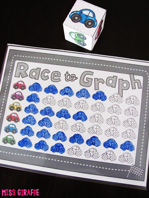 Race to Graph is such a fun math center game to practice pictographs and other picture graph activities