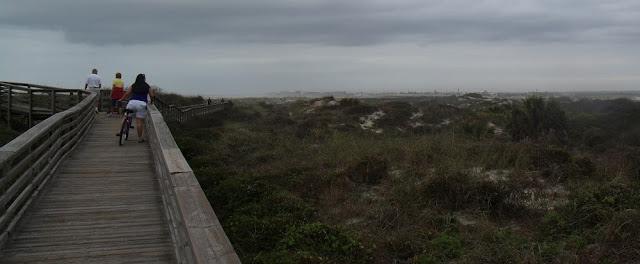 Boardwalk en el Matanzas National Monument