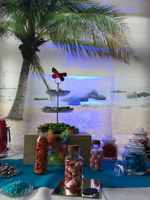 Candy Bar Sandy Thalmeier, exotisch heiraten, Malediven Karbiik-Hochzeit im Seehaus, Riessersee Hotel Garmisch-Partenkirchen Bayern, Hochzeitsplanerin Uschi Glas