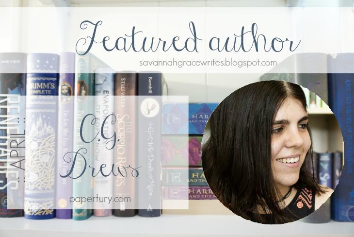 Featured Author - April // C.G. DREWS [post title image]