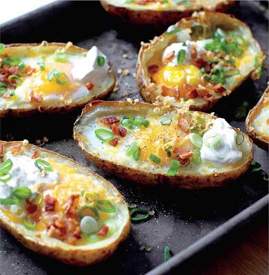 Easy Loaded Breakfast Potato Skins Ideas Recipe