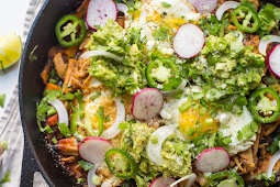 Whole30 Chilaquiles with Sweet Potatoes #vegan #recipevegetarian