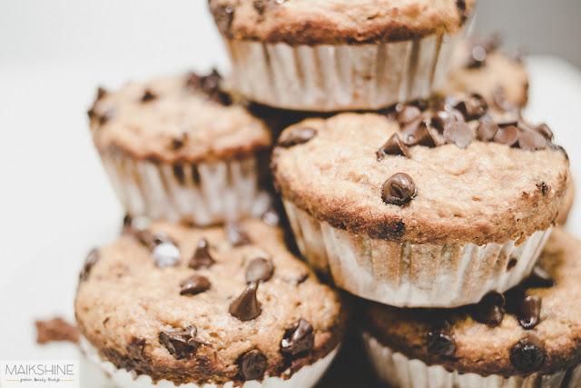 Healthy choco banana muffins