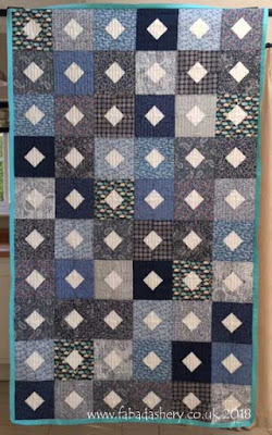 Diamonds and Squares quilt