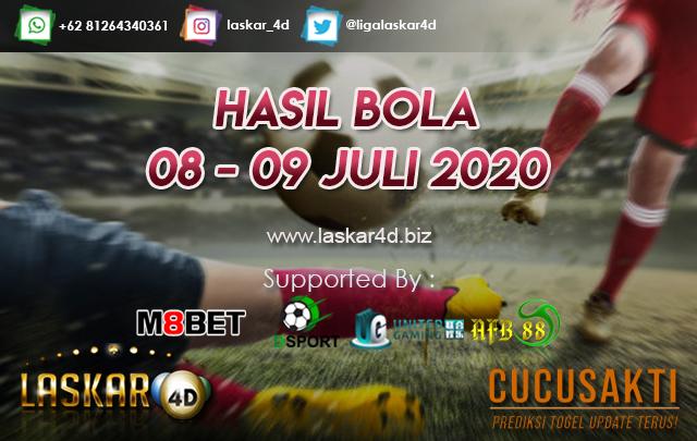 HASIL BOLA JITU TANGGAL 08 – 09 JULI 2020