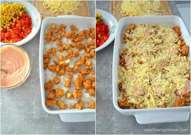 Zapiekanka gyros z ryżem