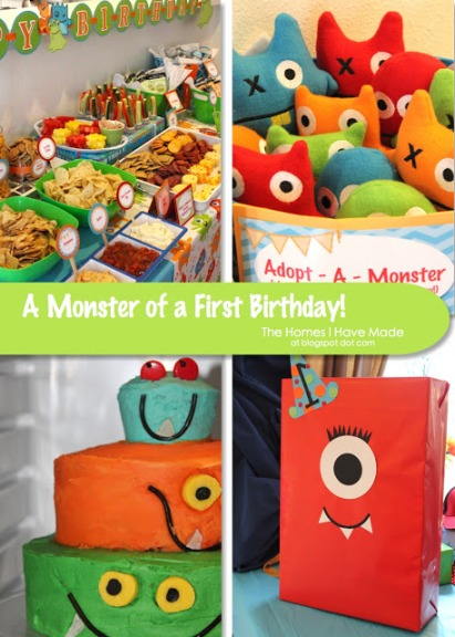 Monsters Birthday Themes For Boys