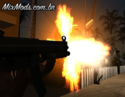 gun flashes gta sa