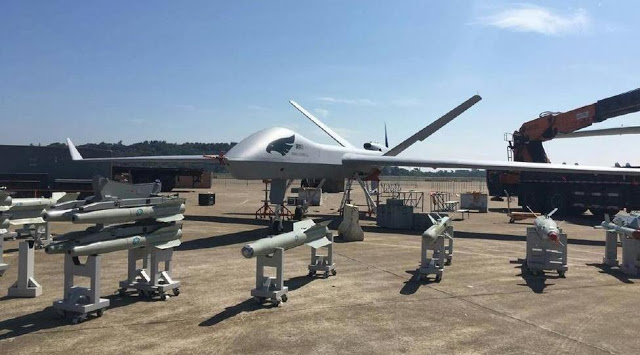 Image Attribute: Static Display of Wing Loong II UAV with its Missile Systems, was first publicly revealed at the Airshow China 2016 (in November 2016)
