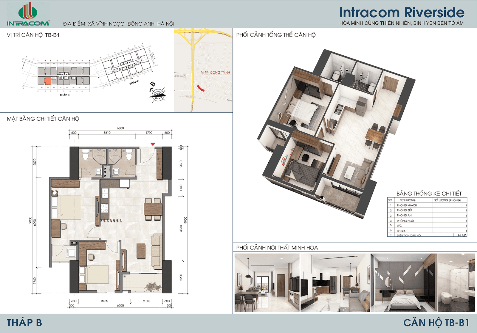 Thiết kế căn 10 - 15 - 64m2
