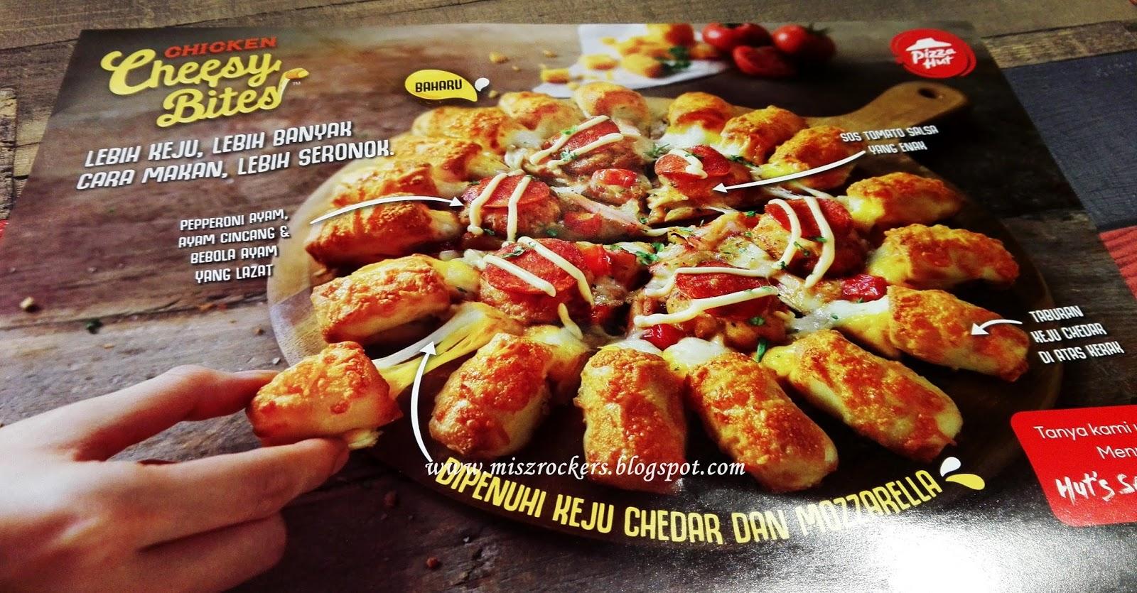 CHICKEN CHEESY BITES PIZZA HUT