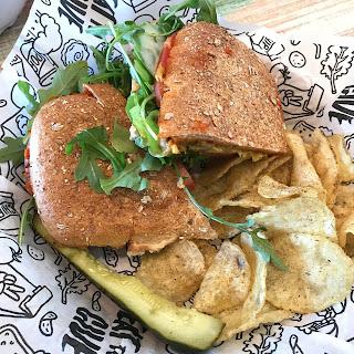 Hummus vegan sandwich