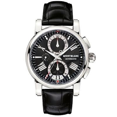 Relógio Montblanc Masculino Couro Preto