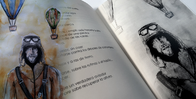 Ilustraciones de Ana Leval en el libro Cicatrices de Abraham Arvelo