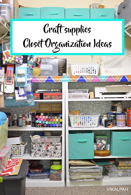 How I organized my craft supplies in a shared closet - Closet organization ideas